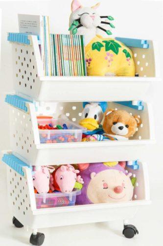 MAGDESIGNER Kids' Toys Storage Organizer Bins Baskets - Toy Storage
