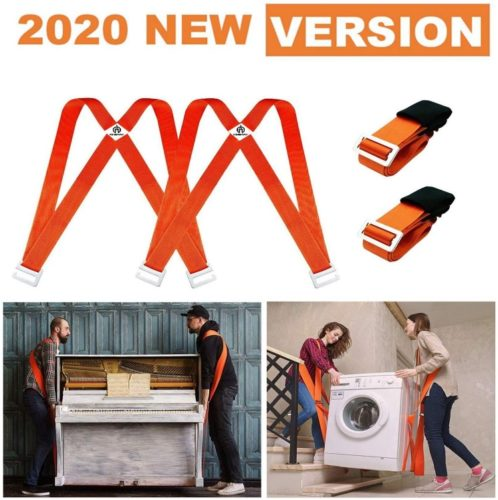 Mattresses or Heavy Objects with 2 Person Safely and Easily Appliances Garden Expert Adjustable Shoulder Lifting and Moving Straps for Furniture