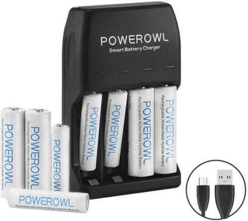 POWEROWL AA AAA Smart Battery Charger