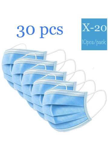 PEM - 30 Pack Professional Disposable Face Masks