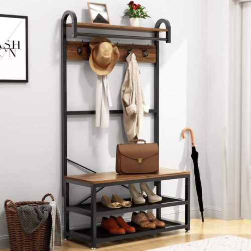 Tribesigns Vintage 4 in 1 Hall Tree with Storage Bench