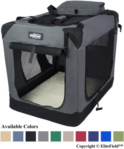 Elite Field 3-Door Folding Soft Dog Crate