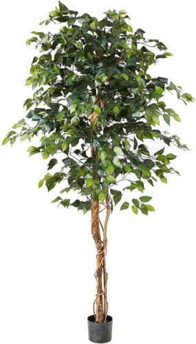 Ficus Artificial Trees, 72in, Green - Large Indoor Plants