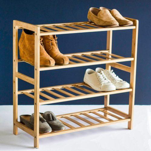 STNDRD. Bamboo Shoe Rack Organizer