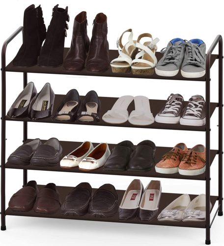 Simple Houseware 4-Tier Shoe Rack Storage Organizer