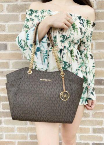 Michael Kors Women business leather bags Jet Set Travel