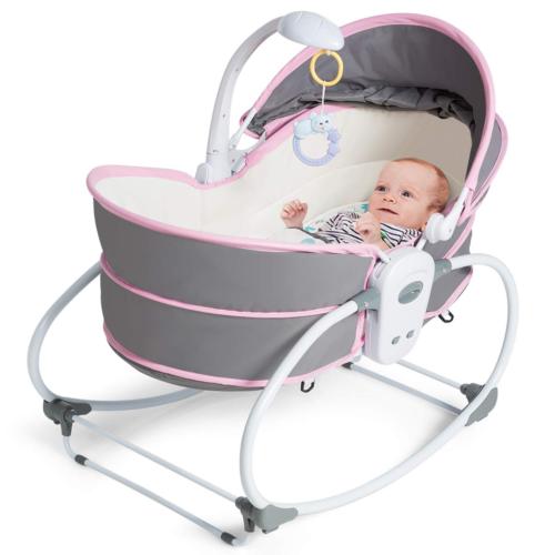 Costzon 5 in 1 Baby Cradle Swing