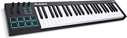 Alesis V49   49 Key USB MIDI Keyboard Controller with 8 Backlit Pads, 4 Assignable Knobs and Buttons, Plus a Professional Software Suite with ProTools   First Included