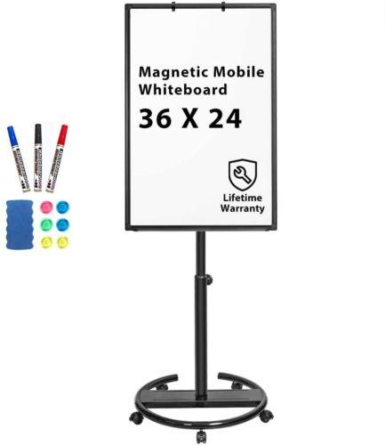 Maxtek Mobile glass whiteboard