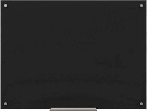 U Brands Black glass whiteboard