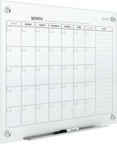 Quartet Calendar glass whiteboard