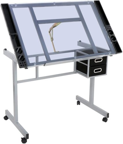 HomGarden Adjustable Drafting Drawing Table Desk