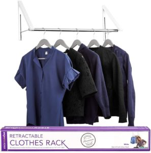 Stock Your Home Retractable Clothes Rack - Clothes Hanger Rack