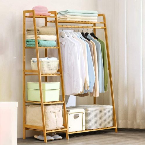 Bamboo Clothes Rack - Clothes Hanger Rack