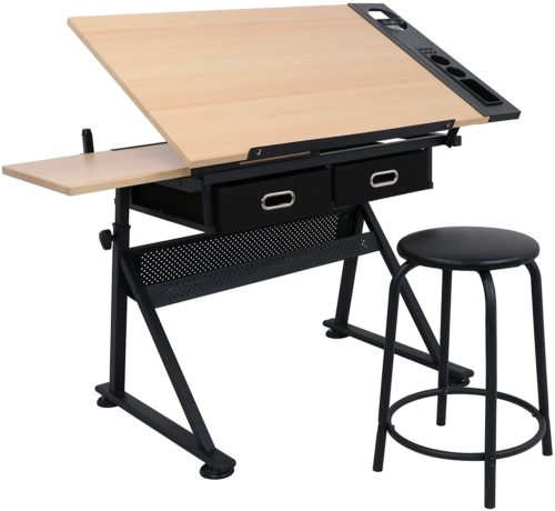 ZENY Height Adjustable Drafting Draft Desk