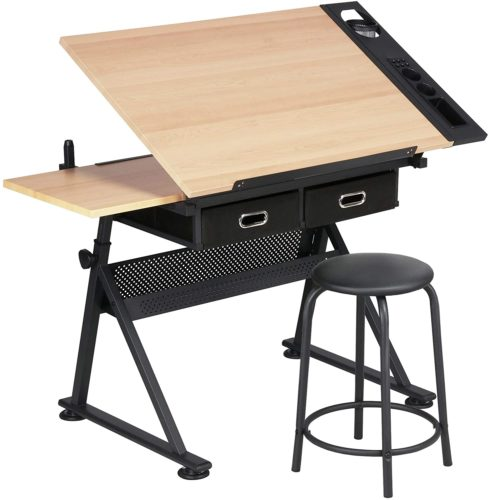 Yaheetech Height Adjustable Drafting Draft Desk