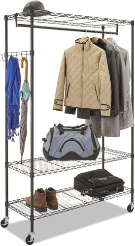 Alera Wire Shelving Garment Rack - Clothes Hanger Rack