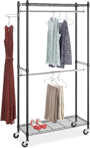 Whitmor Supreme Double Rod Garment Rack - Clothes Hanger Rack