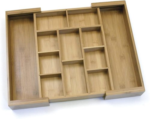 Lipper International 8882 Bamboo Wood Flatware Drawer