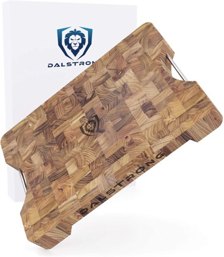 DALSTRONG Lionswood End-Grain Teak Cutting & Serving Board