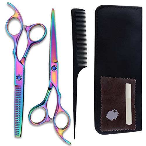 Suripow Hair Cutting Scissors Set 7Pcs