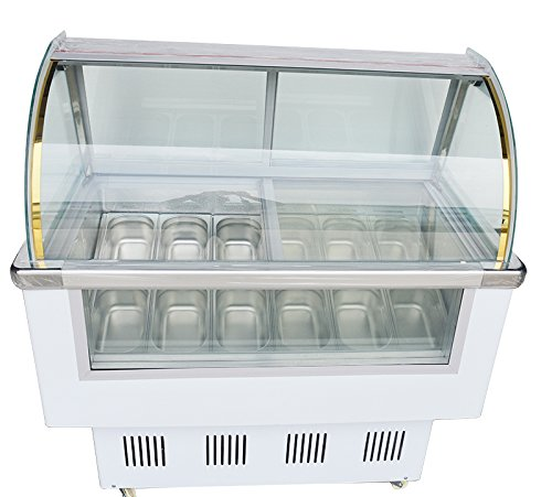 INTBUYING Commercial Ice Cream Refrigerator