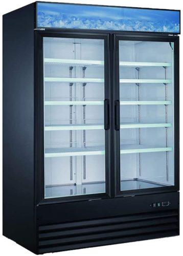 New Double Door Upright Commercial Display Freezer