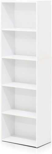 Furinno 11055WH 5-Tier Open Shelf Bookcase