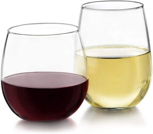 Libbey Stemless 12-Piece Wine Glass