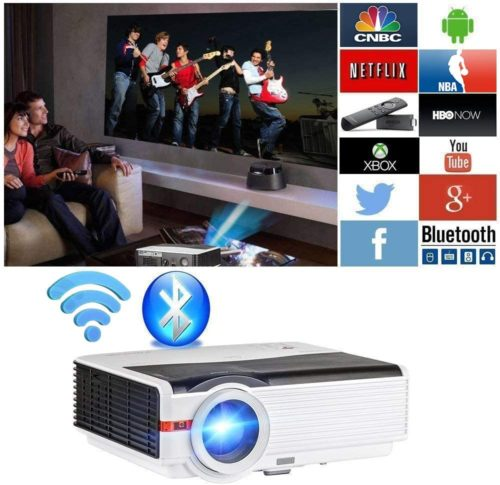 WIKISH Bluetooth Projector