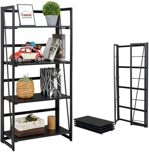 Coavas Folding Wooden Bookshelf