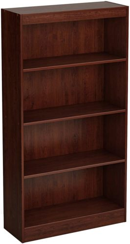 South Shore Axess 4-Shelf Bookcase-Royal Cherry