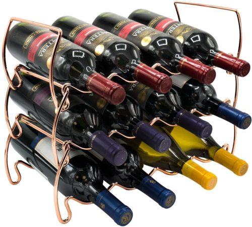 Sorbus 3-Tier Stackable Wine Rack
