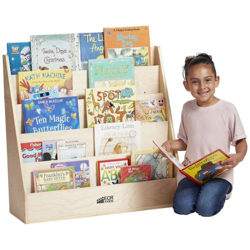 ECR4Kids Birch Streamline Book Display Stand