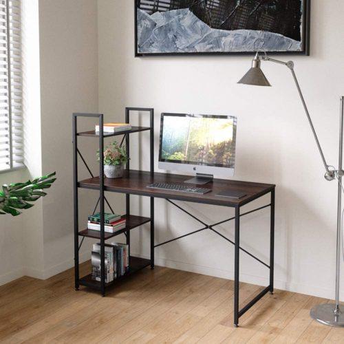 Bestier Computer Desk with Shelves - Contemporary Computer Desks