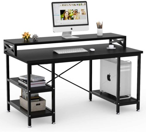 Tribesigns Computer Desk with Open Storage Shelves