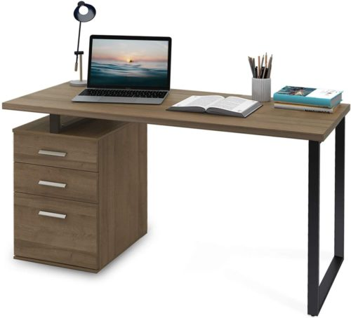 DEVAISE Modern Computer Desk  - Office Desk Drawers