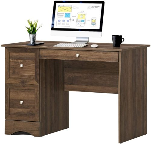 Tangkula Computer Desk with 3 Drawers
