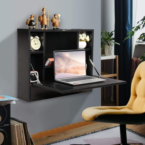 JAXSUNNY Functional Wall Mounted Laptop Desk