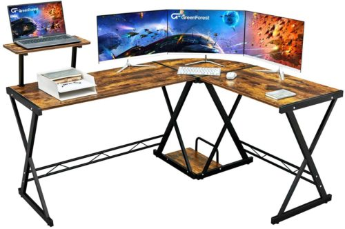 GreenForestL-Shaped Gaming Desk