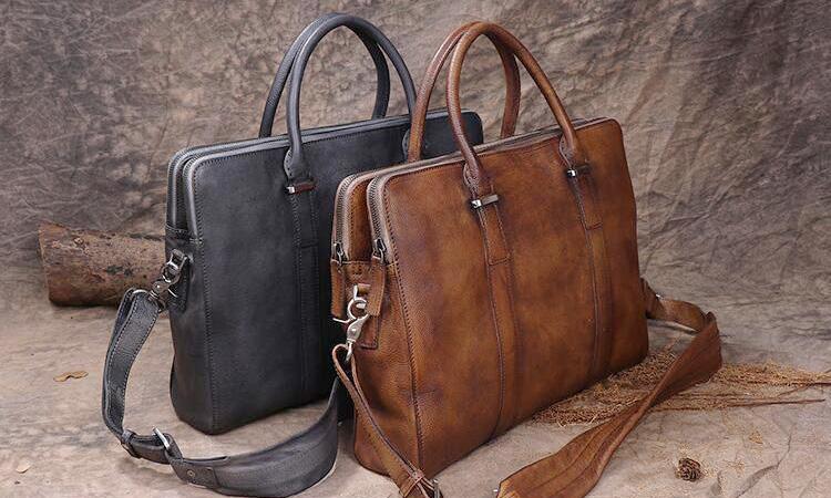 Men Business Leather Bag